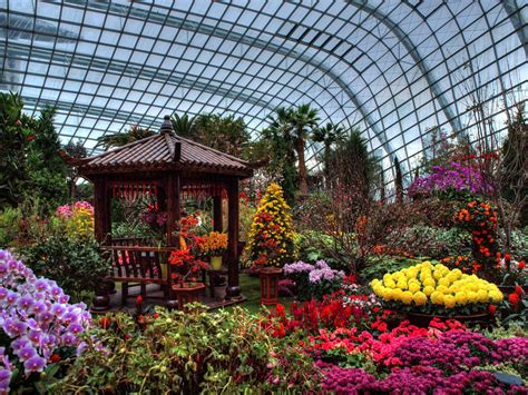 Dome Flowers flower dome gardens by the bay singapore through my