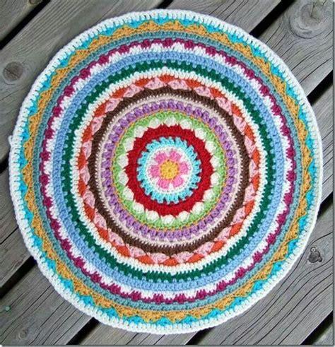 crochet mandala rug alfombra ganchillo