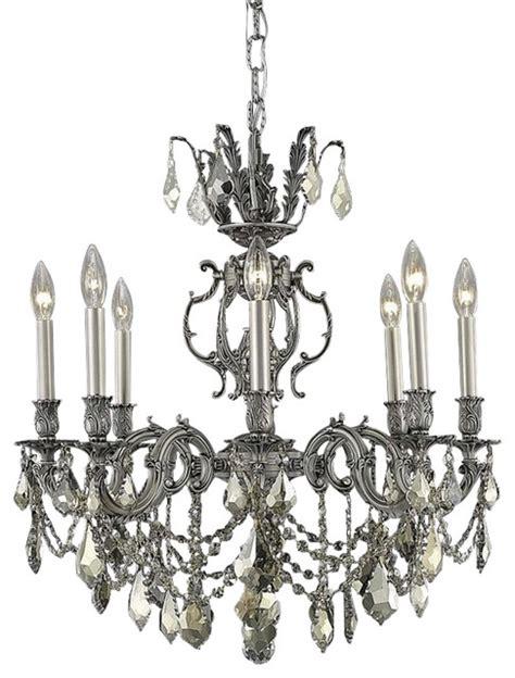 elegant marseille dining room light pewter finish