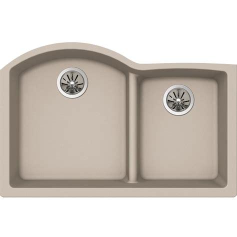 quartz undermount kitchen sinks elkay premium quartz drop in composite 33 in single bowl