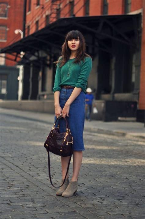 25 best ideas about knee length denim skirt on