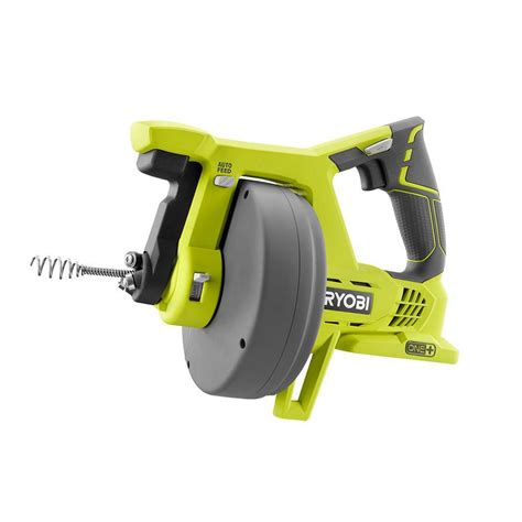 Auger Plumbing by Ryobi 18 Volt One Drain Auger Tool Only P4001 The Home Depot