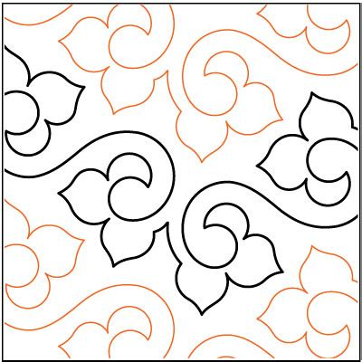 Pantograph Patterns For Longarm Quilting by Lithe Quilting Pantograph Pattern By Lorien Quilting