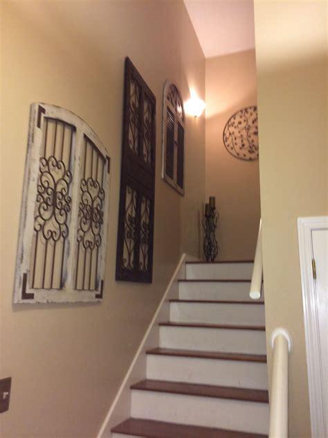 vintage rustic window  door frames  stair wall decor