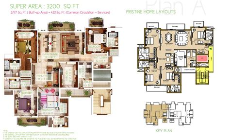 3bhk House Plans ats pristine resale noida expressway sector 150