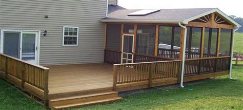 Screen Rooms For Decks Wood Deck Builder Nevins Construction 410 746 1068