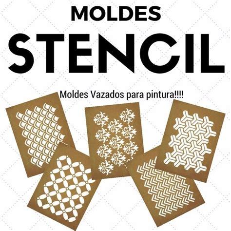 moldes vazados para parede moldes vazados stencil para pintura kit com 5 moldes r