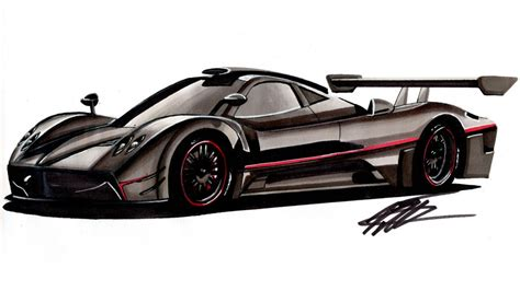 pagani drawing car drawing pagani zonda r time lapse youtube