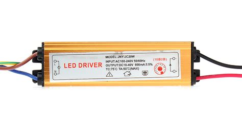 Led Driver 20w 7 96 18 40v 20w high power water resistant led driver transformer power supply 10s2p at