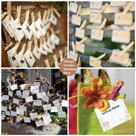 creative wedding place card ideas things festive weddings events