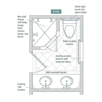 small bathroom plan 7 small bathroom layouts fine homebuilding