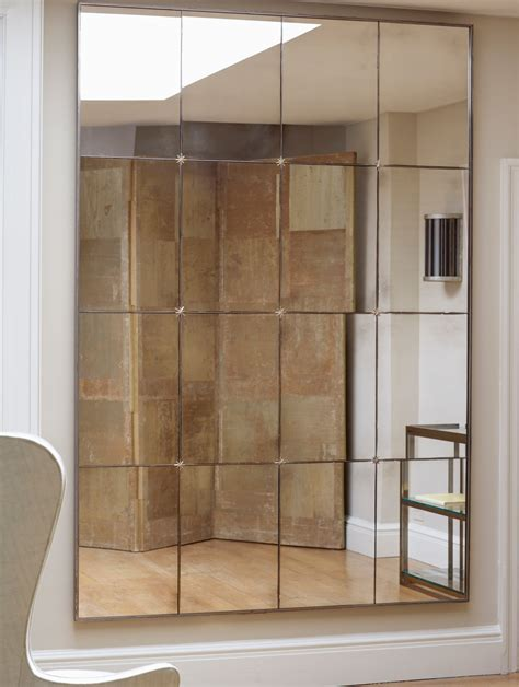 Large Foyer Lights Panelled Mirror Charles Saunders