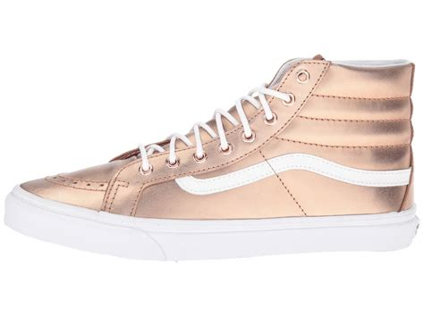 design vans com attractive design vans sk8 hi slim womens metallic rose
