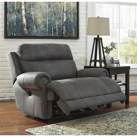 Zero Wall Power Wide Recliner by Austere Faux Leather Power Zero Wall Wide Recliner