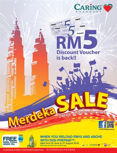 Free Sles Giveaway - caring pharmacy merdeka sale with free cash voucher giveaway