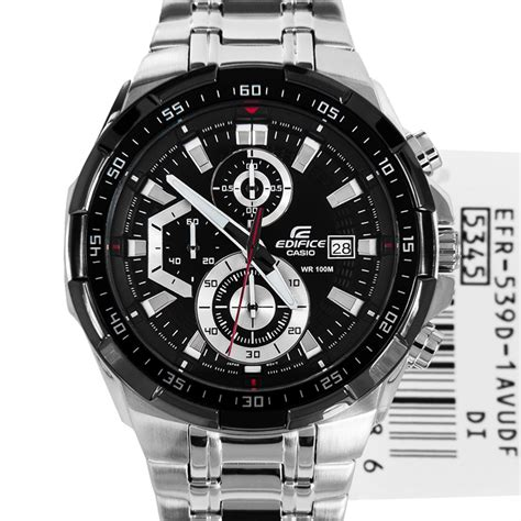 Casio Edifice Efr 539 Black casio edifice sports efr 539d 1av efr539d