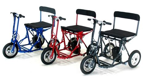 Di Blasis Motorized Folding Tricycle by Di Blasi R30 Folding Electric Italian Tricycle Scooter