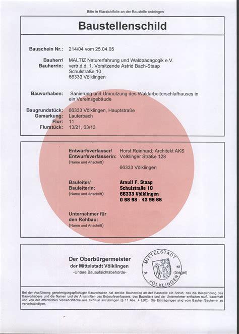 Baustellenschild Anbringen by Tektorum De Baustellenschild
