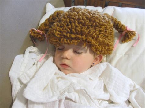 free crochet cabbage patch hair baby hat crocheted cabbage patch hat wig from crochetedbycatherine