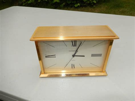 tiffany co brass desk clock tiffany and co brass 1970s table or desk clock at 1stdibs