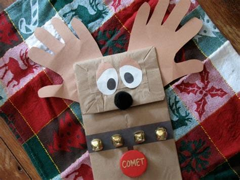 Reindeer Paper Bag Craft - crafts for lullabuy s