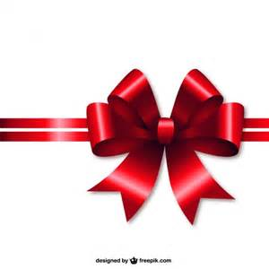 red christmas ribbon vector free download