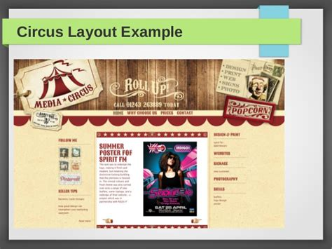circus layout newspaper types of layouts by admec multimedia institute