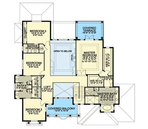 tropical home floor plans tropical charm 32158aa 2nd floor master suite butler