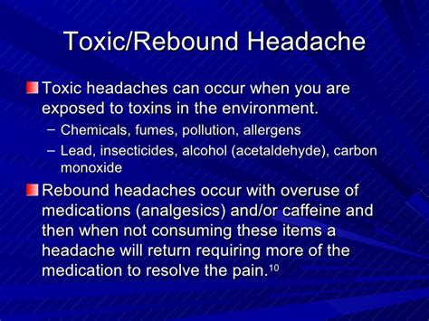 Detox From Rebound Headaches by Headache Relief