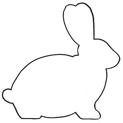 easter bunny outline clipart best