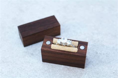 engagement ring box wood ring box handcrafted ring box
