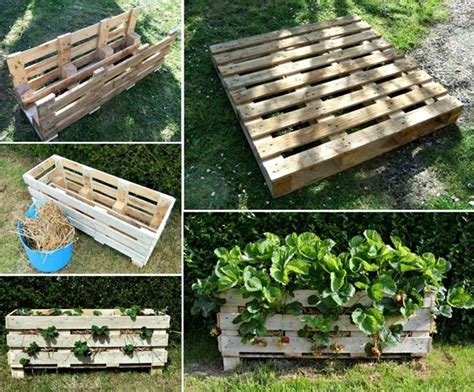 Build A Strawberry Planter by Diy Vertical Pallet Strawberry Planter