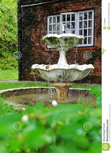 water fountain   home garden stock photo image