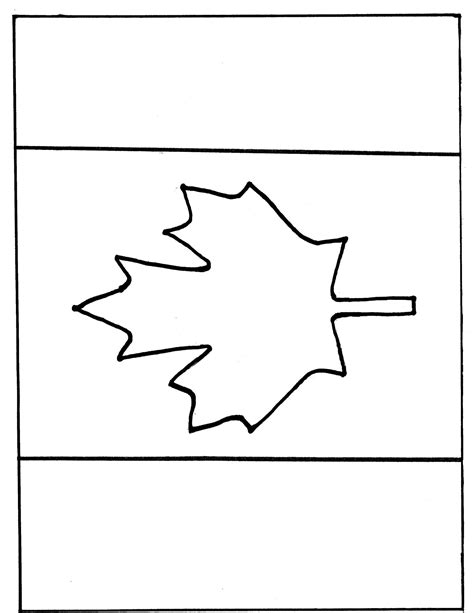 Canada Maple Leaf Outline by Canada Day Crafts Pages
