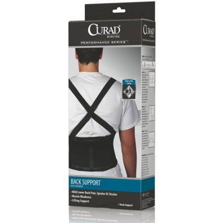 Support Walmart by Curad Back Support With Suspenders Walmart