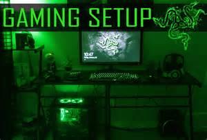 gaming setup 2015 razer themed gaming setup youtube