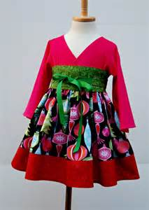 girls christmas dress in green red pink kimono by