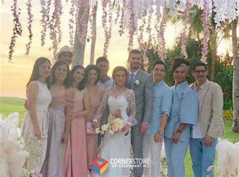 celebrities  rachelle ann  martin spies wedding