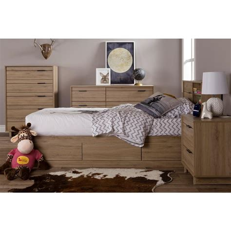 twin bed wood south shore fynn twin wood kids storage bed 9067212 the home depot