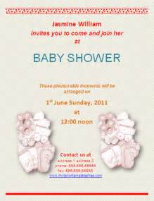 free baby shower invitation templates for word bridal shower invitations