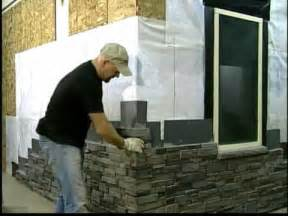 silvermine stone screw on stone veneer installation stack