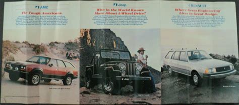 Jeep Spirit Jps70302 Original 1982 amc jeep renault dealer accordion sale brochure spirit le car cj7 scrambler