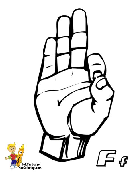 love you asl hand signs coloring book coloring pages