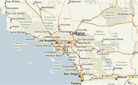 california map ontario ontario location guide