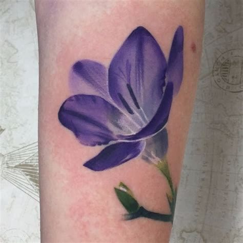 freesia tattoo designs a secret garden of freesia tattoos tattoodo