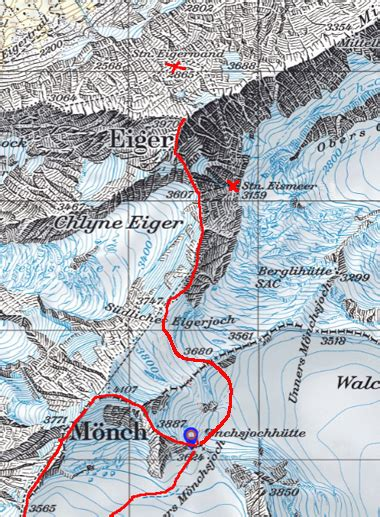 Eiger Traverse 1 2 Black walk report swiss 4000nders 10 the eiger m 246 nch and