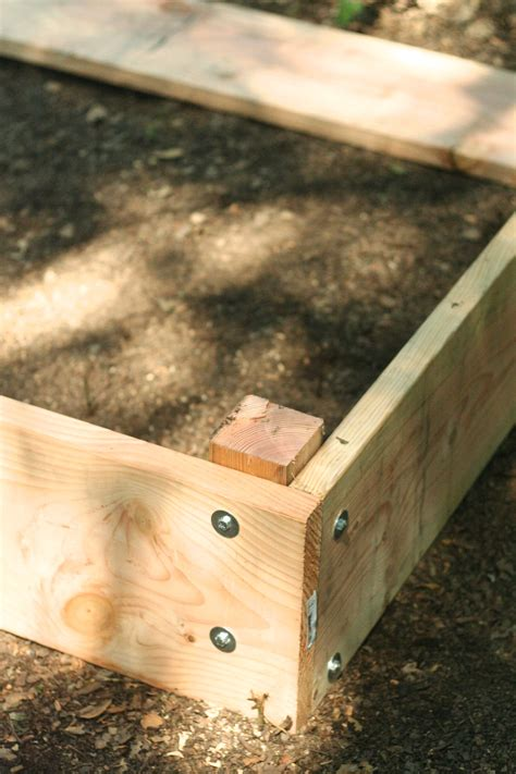 How To Make A Raised Bed Planter by How To Build A Wooden Raised Bed Planter Box Dear