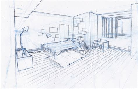 sketch of a bedroom sarah kujubu research drawing bedroom