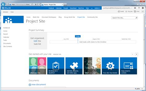 modifying the project site templates in microsoft project server