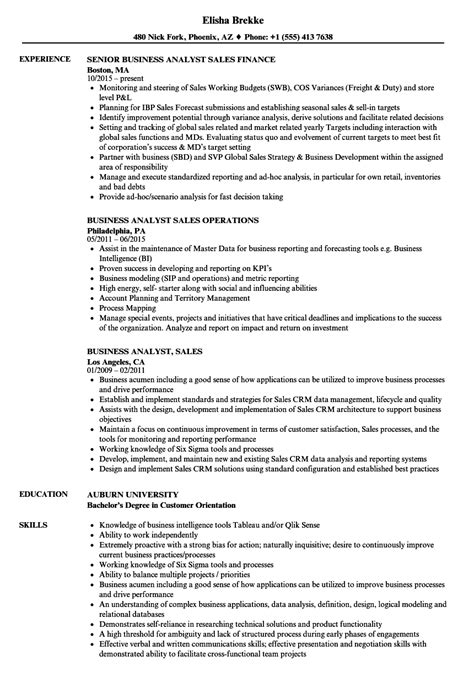 system analyst resume sles business analyst resume sles 28 images business
